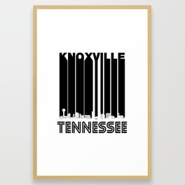 Retro Knoxville Tennessee Skyline Framed Art Print