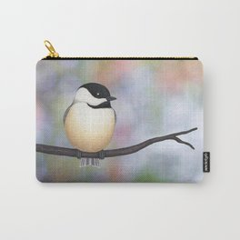 black capped chickadee on a branch Carry-All Pouch