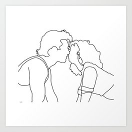 Dirty Dancing // Johnny and Baby Art Print