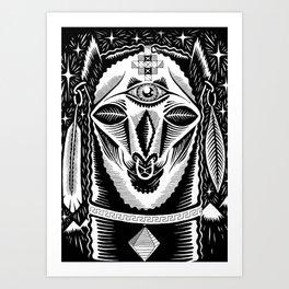 Llama King Art Print