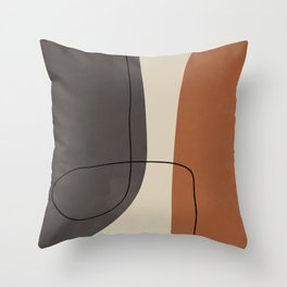 Modern Abstract Shapes #2 Throw Pillow