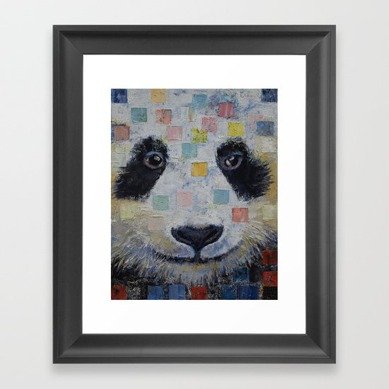 Panda Checkers Framed Art Print