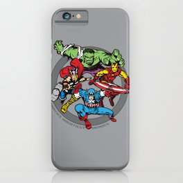 Earth's Mightiest Heroes Team iPhone Case