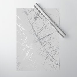 Silver Splatter 089 Wrapping Paper