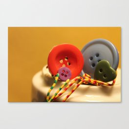 The Button Family Canvas Print