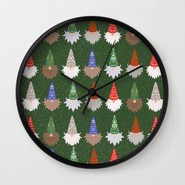Gnomes Green Wall Clock