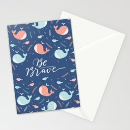 Sea whales pattern Stationery Cards