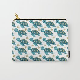 Cute Turquoise Sea Turtle Carry-All Pouch