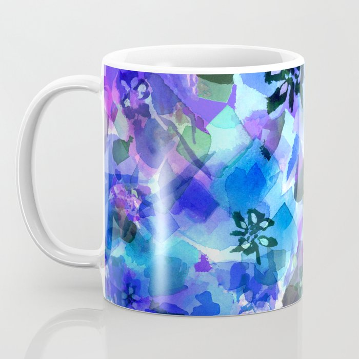 Blue Tulip Floral Coffee Mug