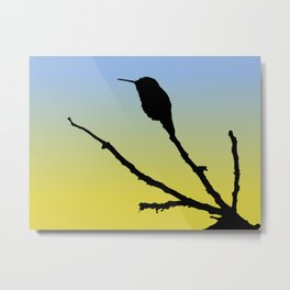 Allen's Hummingbird Silhouette at Sunrise Metal Print