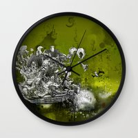 resident evil Wall Clocks featuring Resident by JoeyDrawing
