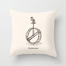The Little Inventor Throw Pillow