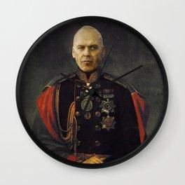 Michael Keaton - Satirical Portrait Wall Clock