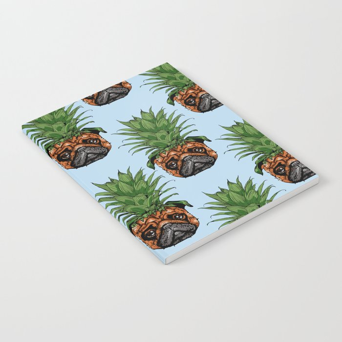 Pineapple Pug Notebook