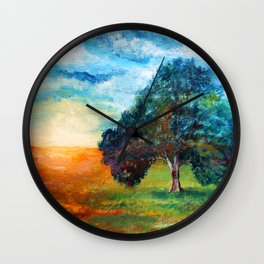 Self Portrait 3 - A New Day Wall Clock