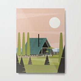 A frame Metal Print