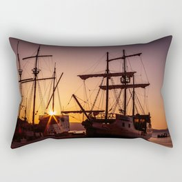 A sailer in the bay of Senj, Croatia Rectangular Pillow
