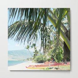 Aloha Sugar Beach Metal Print