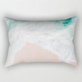Ocean Mint Walk Rectangular Pillow