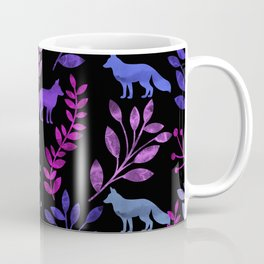 Watercolor Floral & Fox V Coffee Mug