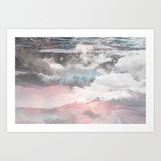 Crashing Clouds Art Print