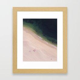 At the Seaside Framed Art Print