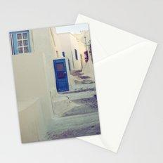 Santorini Door III Stationery Cards