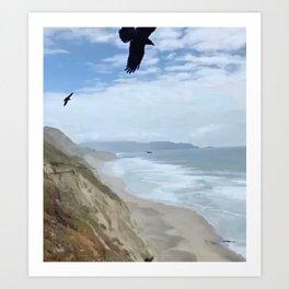 Crows Coast Photography by Christie Olstad Art Print