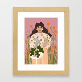 Cat Mom Framed Art Print