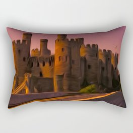 Conway (Conwy) Castle (Digital Art) Rectangular Pillow