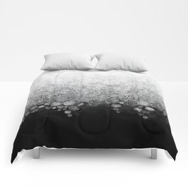 Snowfall on Black Comforters