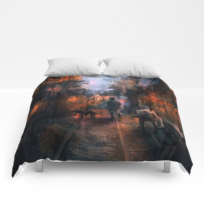 Barrio in the SE Comforters