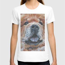 the chow chow dog portrait fine Art Dog Painting from an original painting by L.A.Shepard T-shirt