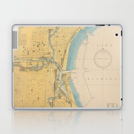 Vintage Map of Milwaukee WI (1947) Laptop & iPad Skin