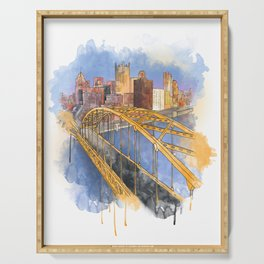 Pittsburgh Fort Pitt and Downtown Serving Tray