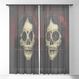 Day Of The Dead Sheer Curtain
