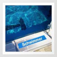 Schwimmer Art Print