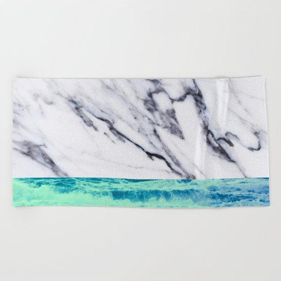 Marble Ocean iPhone Case and Throw Pillow Design Beach Towel