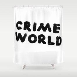 Crime World Logo Shower Curtain