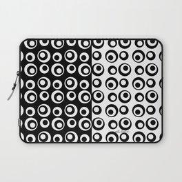 Mod Love Black/White Dots Circles Laptop Sleeve
