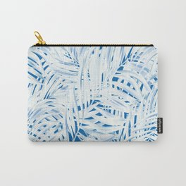 Tropical Palms Blue Carry-All Pouch