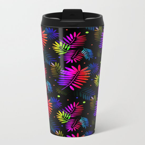 Splashy Tropics Metal Travel Mug