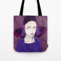 dana scully Tote Bags featuring Dana by Sofia Bonati