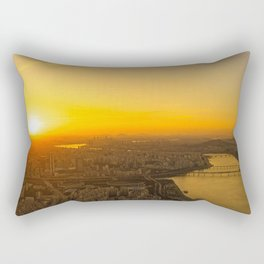 Sunset in Seoul Rectangular Pillow