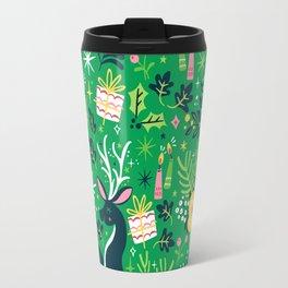 Festive Deer Travel Mug