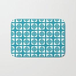 Mid Century Modern Pattern 271 Cerulean Blue Bath Mat