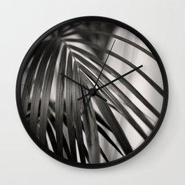 Black & White Palm Leaf #1 #decor #art #society6 Wall Clock