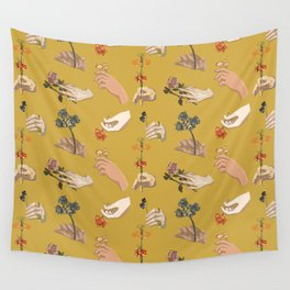 Hands in Art History Wall Tapestry