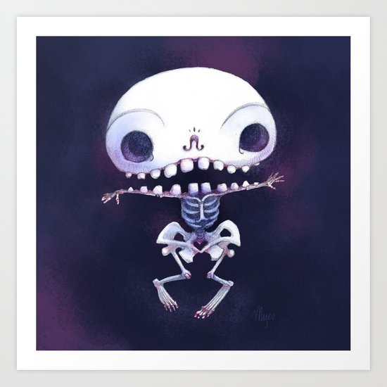 Squeleteeth Art Print