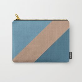 Brown Blue Minimal Diagonal Stripe Pattern 2021 Color of the Year Canyon Dusk & Accent Shades Carry-All Pouch